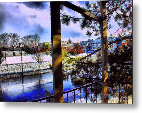Urban Impressionism 2011 Metal Print featuring the mixed media Beaverton H.s. Winter 2011 by Terence Morrissey