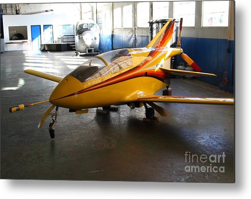 Airplane Metal Print featuring the photograph Bede 5 . Bd5-b . Kit Airplane Using Honda And Mazda Engines . 7d11166 by Wingsdomain Art and Photography