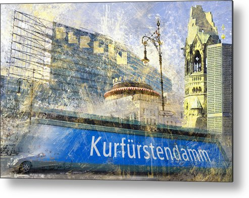 Postcard Metal Print featuring the photograph Berlin Composing by Melanie Viola