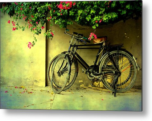 Horizontal Metal Print featuring the photograph Bicycles by Atul Tater