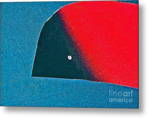 Abstract Metal Print featuring the photograph Bird In Flight by Joan McArthur