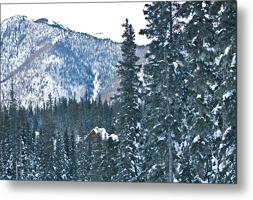 Landscape Metal Print featuring the photograph Blue Green Mountain by Lisa Spencer
