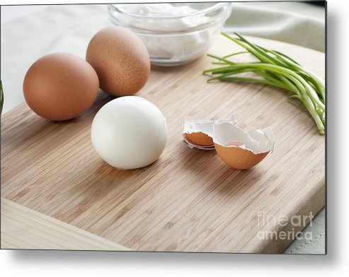 Boiled Metal Print featuring the photograph Boiled Eggs by Charlotte Lake