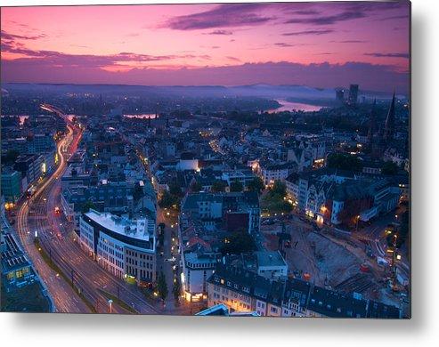 Bonn Metal Print featuring the photograph Bonn Panorama - Stadthaus by Andre Distel