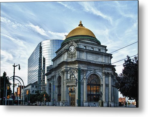 Architecture Metal Print featuring the photograph Buffalo Savings Bank 11415 by Guy Whiteley