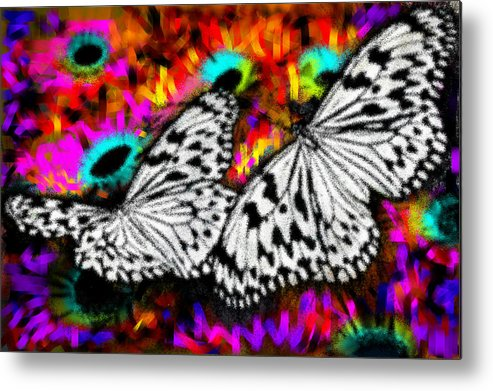 Nature Metal Print featuring the digital art Butterfly by Ilias Athanasopoulos