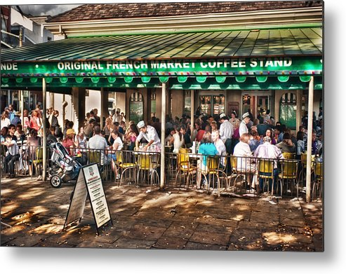New Orleans Metal Print featuring the photograph Cafe Du Monde by Brenda Bryant