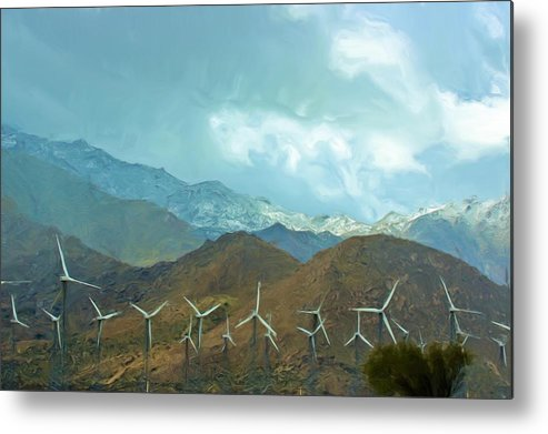 Snow Metal Print featuring the photograph California Desert In Winter by Heidi Smith