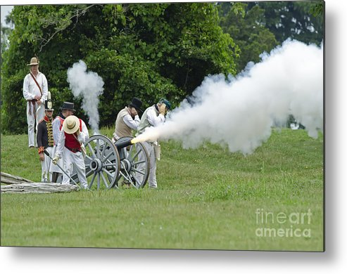 War Of 1812 Metal Print featuring the photograph Cannon Fire by JT Lewis
