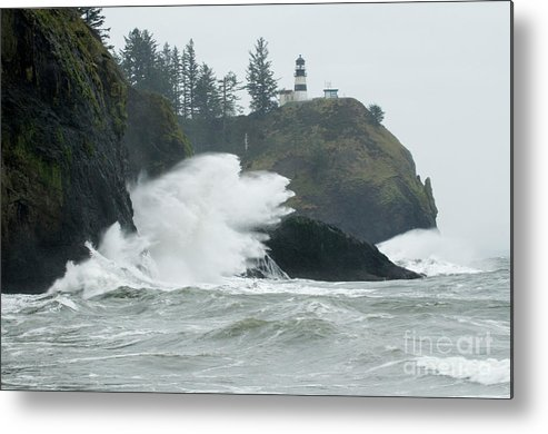 Pacific Ocean Metal Print featuring the photograph Cape Disappointment Lighthouse by Bob Christopher