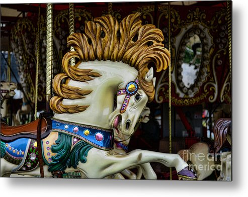 Carousel Metal Print featuring the photograph Carousel Horse - 4 by Paul Ward