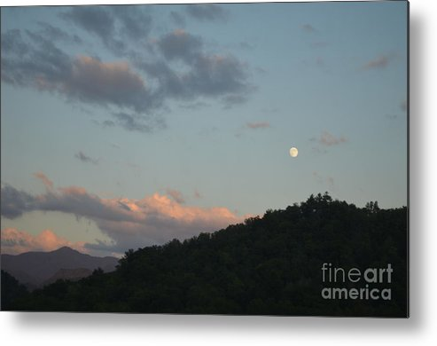 Cherokee Metal Print featuring the photograph Cherokee Moonrise by Randy Edwards
