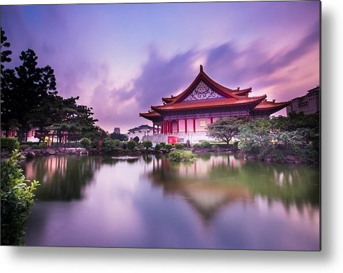 Horizontal Metal Print featuring the photograph Chinese Palace by © copyright 2011 Sharleen Chao