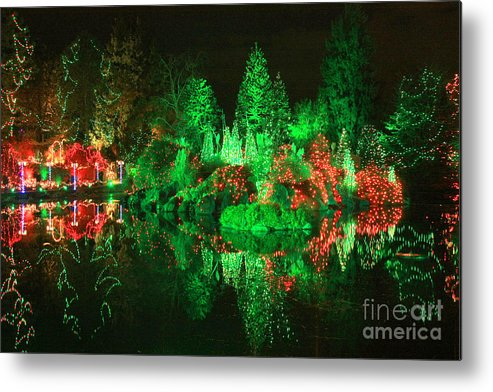 Christmas Metal Print featuring the photograph Christmas Fantasyland by Frank Townsley