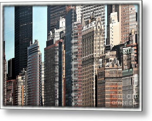 City Metal Print featuring the photograph Cityscape Cartoon by Sophie Vigneault