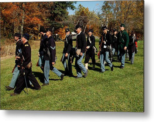 Usa Metal Print featuring the photograph Civil Soldiers March by LeeAnn McLaneGoetz McLaneGoetzStudioLLCcom