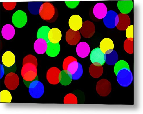 Bokceh Metal Print featuring the photograph Colorful Bokeh by Paul Ge