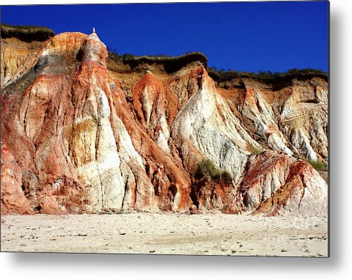Clay Cliffs Metal Print featuring the photograph Colorful Clay Cliffs Of Aquinnah Beach by Carol Groenen
