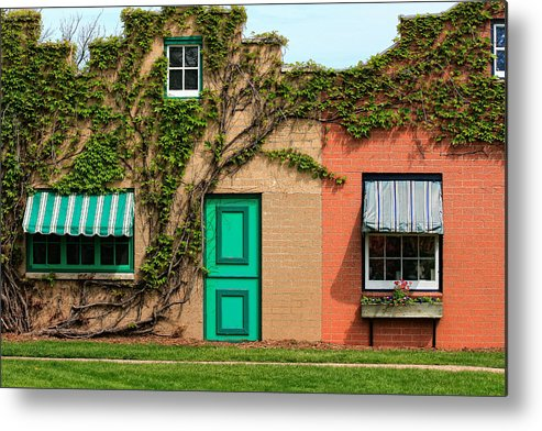 Facades Metal Print featuring the photograph Colorful Wall by Richard Gregurich