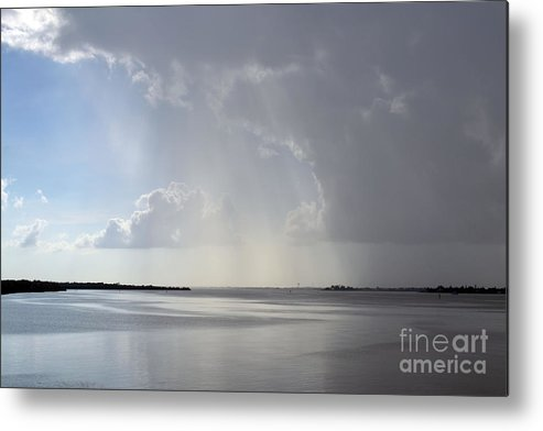 Beach Metal Print featuring the photograph Contrasting Clouds by AlanaCrystina Page