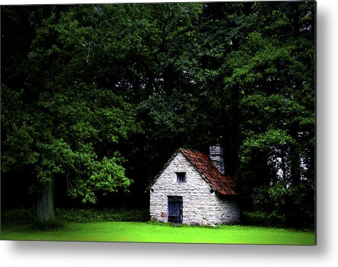 Architecture Metal Print featuring the photograph Cottage In The Woods by Fabrizio Troiani