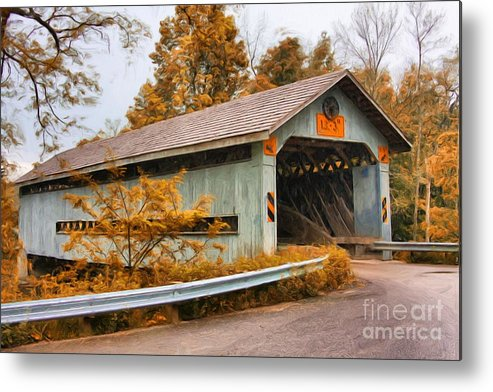 Covered Bridges Metal Print featuring the photograph Covered Bridge 3 by Tom Griffithe