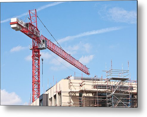 Apartment Metal Print featuring the photograph Crane by Tom Gowanlock