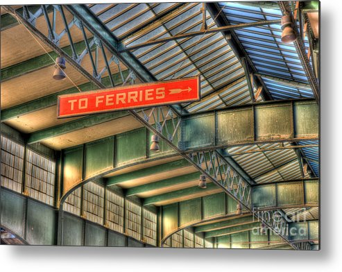 Clarence Holmes Metal Print featuring the photograph Crrnj Terminal Iv by Clarence Holmes