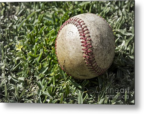 Baseball Metal Print featuring the photograph Cure For Spring Fever by Gwyn Newcombe