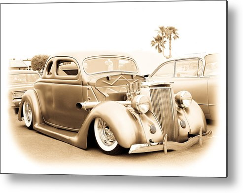 Chopped Metal Print featuring the photograph Custom 1936 Ford by Steve McKinzie