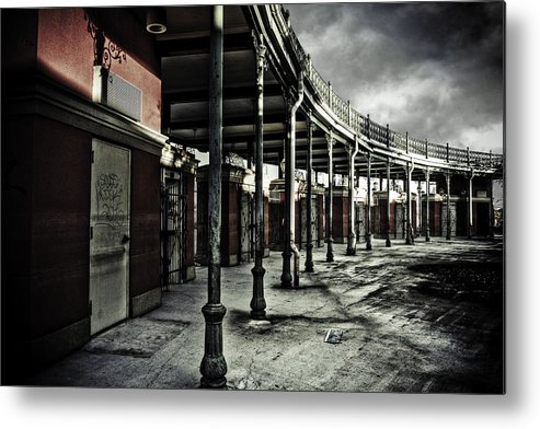 Entrance Metal Print featuring the photograph Dark Entrance by Pixel Perfect by Michael Moore