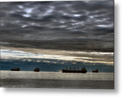 Ships Metal Print featuring the painting Days End by Melodie Douglas
