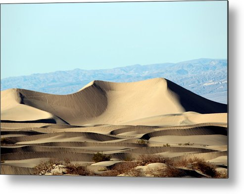 Death Valley Metal Print featuring the photograph Death Valley Dunes by Jo Sheehan