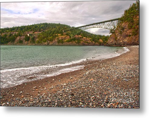 Deception Pass In Washington State Metal Print featuring the photograph Deception Pass Washington by Artist and Photographer Laura Wrede