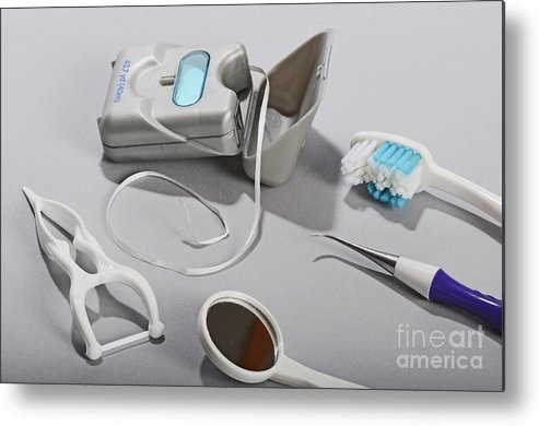 Hygiene Metal Print featuring the photograph Dental Tollietres by Photo Researchers, Inc.