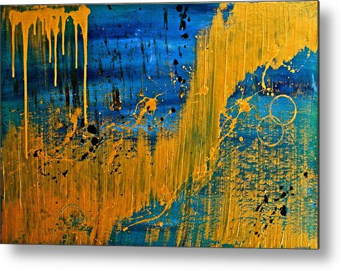 Original Metal Print featuring the painting Dipped In Gold by Eric Chapman