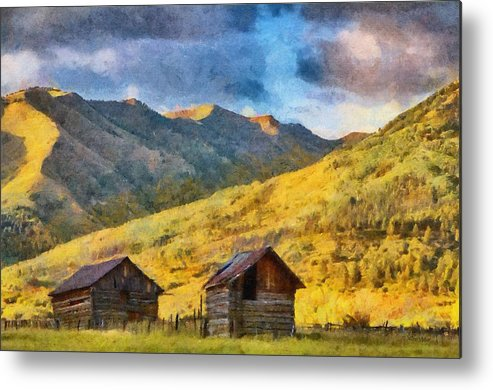 Colorado Metal Print featuring the painting Distant Storm by Jeffrey Kolker