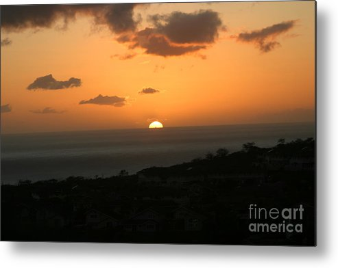 Hawaii Metal Print featuring the photograph Distant Sunset by Anthony Trillo