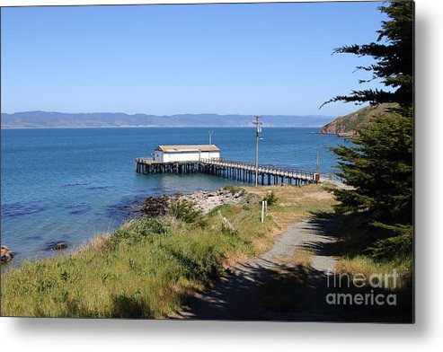 Landscape Metal Print featuring the photograph Dock At Point Reyes Calfornia . 7d16069 by Wingsdomain Art and Photography