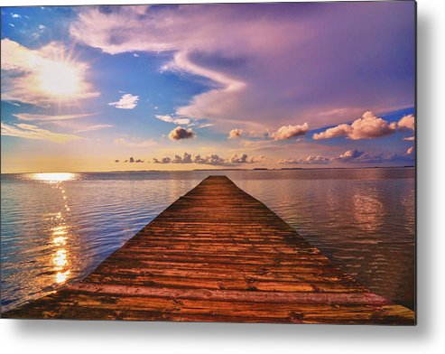 Dock Metal Print featuring the photograph Dock Of The Bay by Kelly Reber