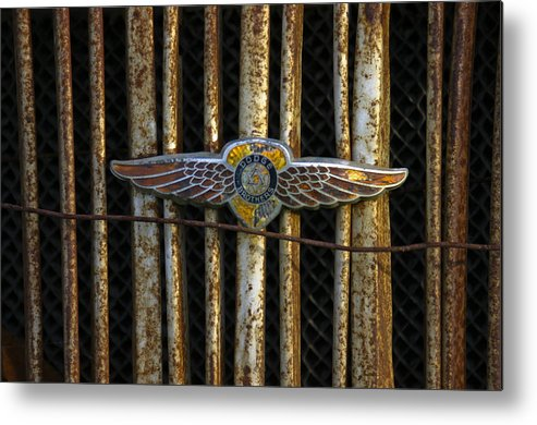 Wow What A Find. What An Honor! This Is The Greatest!! Metal Print featuring the photograph Dodge Brother Emblem by Penny Ryan