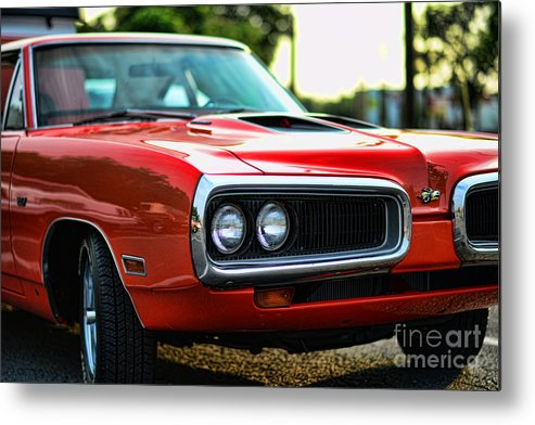 1970 Dodge Super Bee Metal Print featuring the photograph Dodge Super Bee Classic Red by Paul Ward