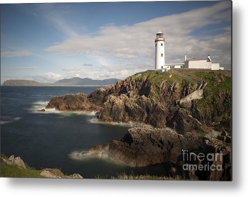 Irish Metal Print featuring the photograph Donegal Lighthouse by Andrew Michael