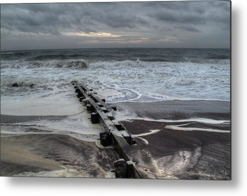 Long Island Metal Print featuring the photograph Dune Beach Winter by Steve Gravano