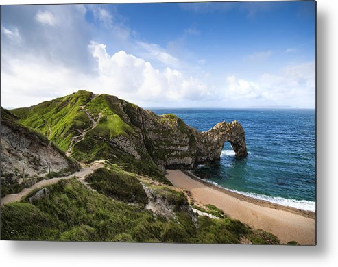 Horizontal Metal Print featuring the photograph Durdle Door by Alexander W Helin