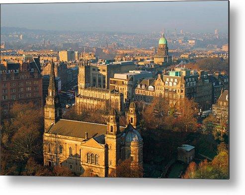 Edinburgh Metal Print featuring the photograph Edinburgh On A Winter's Day by Christine Till