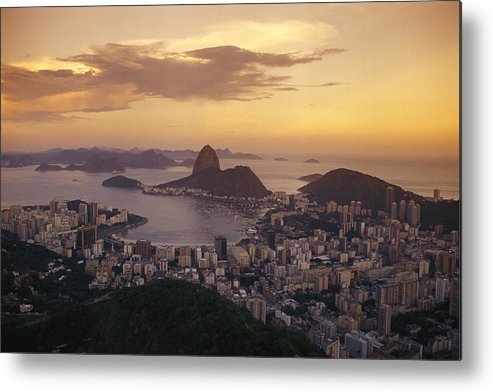 South America Metal Print featuring the photograph Elevated View Of Rio De Janeiro by Richard Nowitz