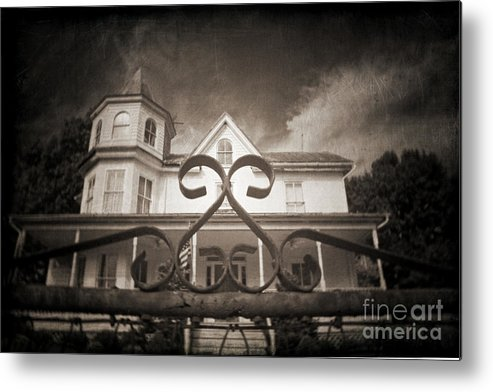 Gate Metal Print featuring the photograph Enter If You Dare by Jane Brack