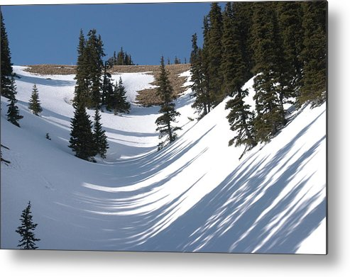 Snow Metal Print featuring the photograph Evening Shadows by Wanda Jesfield
