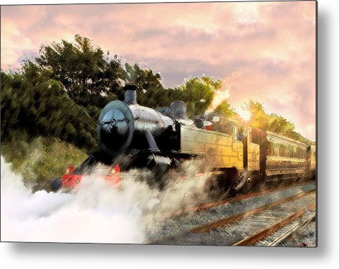Train Metal Print featuring the photograph Evening Train by Peter Loughlin